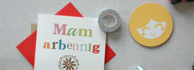 Mam Arbenning Welsh Greetings Card