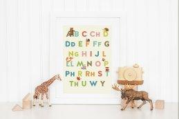 Yr Wyddor Welsh Alphabet Print