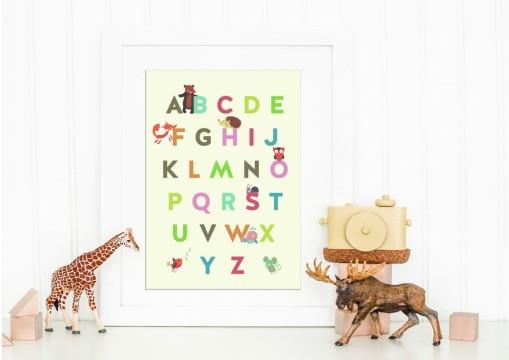 English Alphabet Print